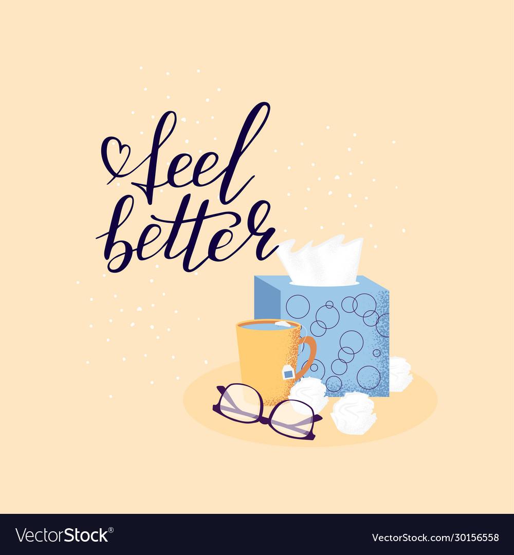 Hand lettering feel better positive