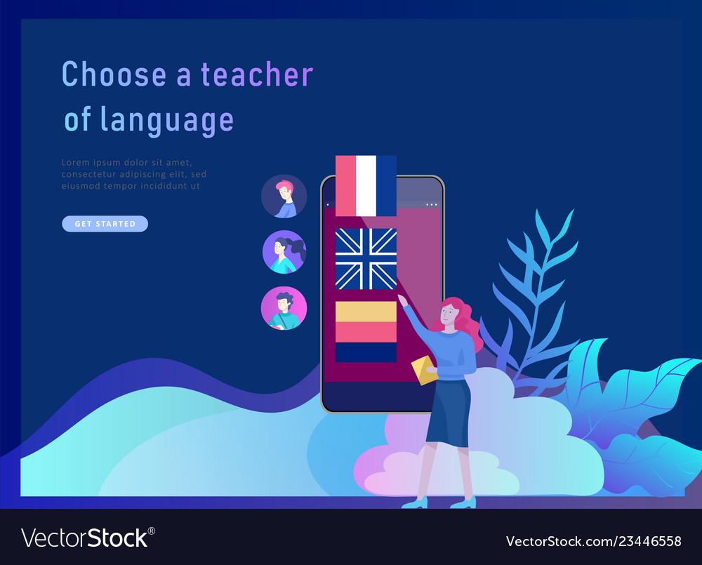 Landing page templates for online language courses