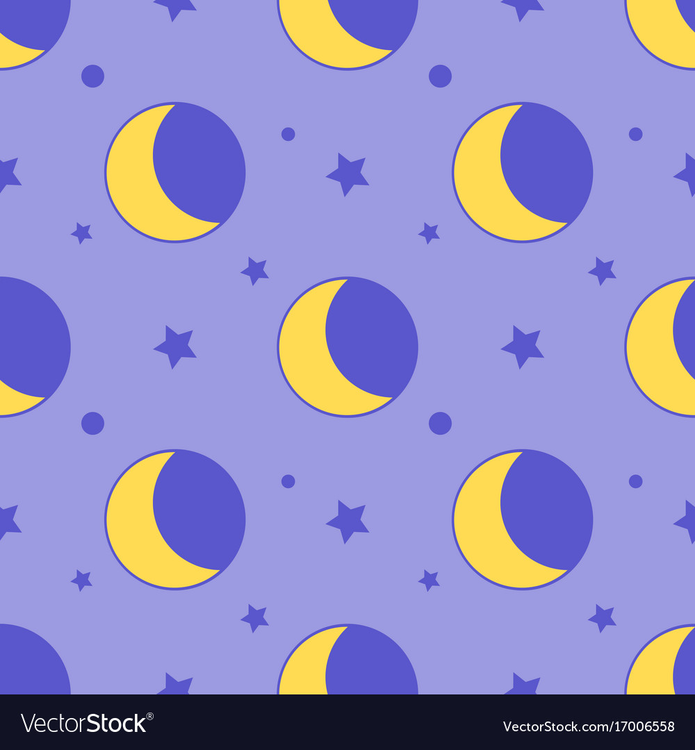 Moon seamless pattern child background with stars