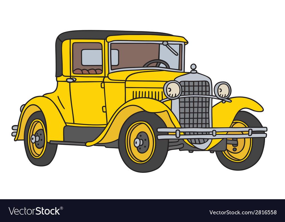 Old racing car Royalty Free Vector Image - VectorStock