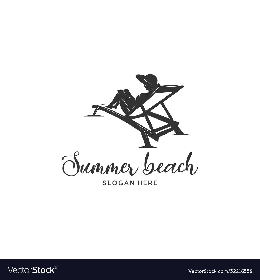 Reading book summer beach