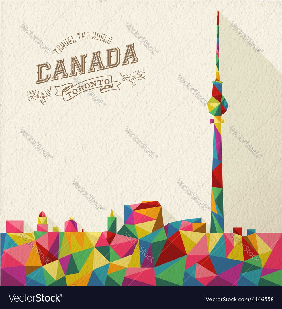 Travel Canada polygonal skyline