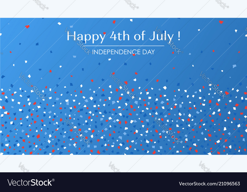 4th of july festive greeting card with text