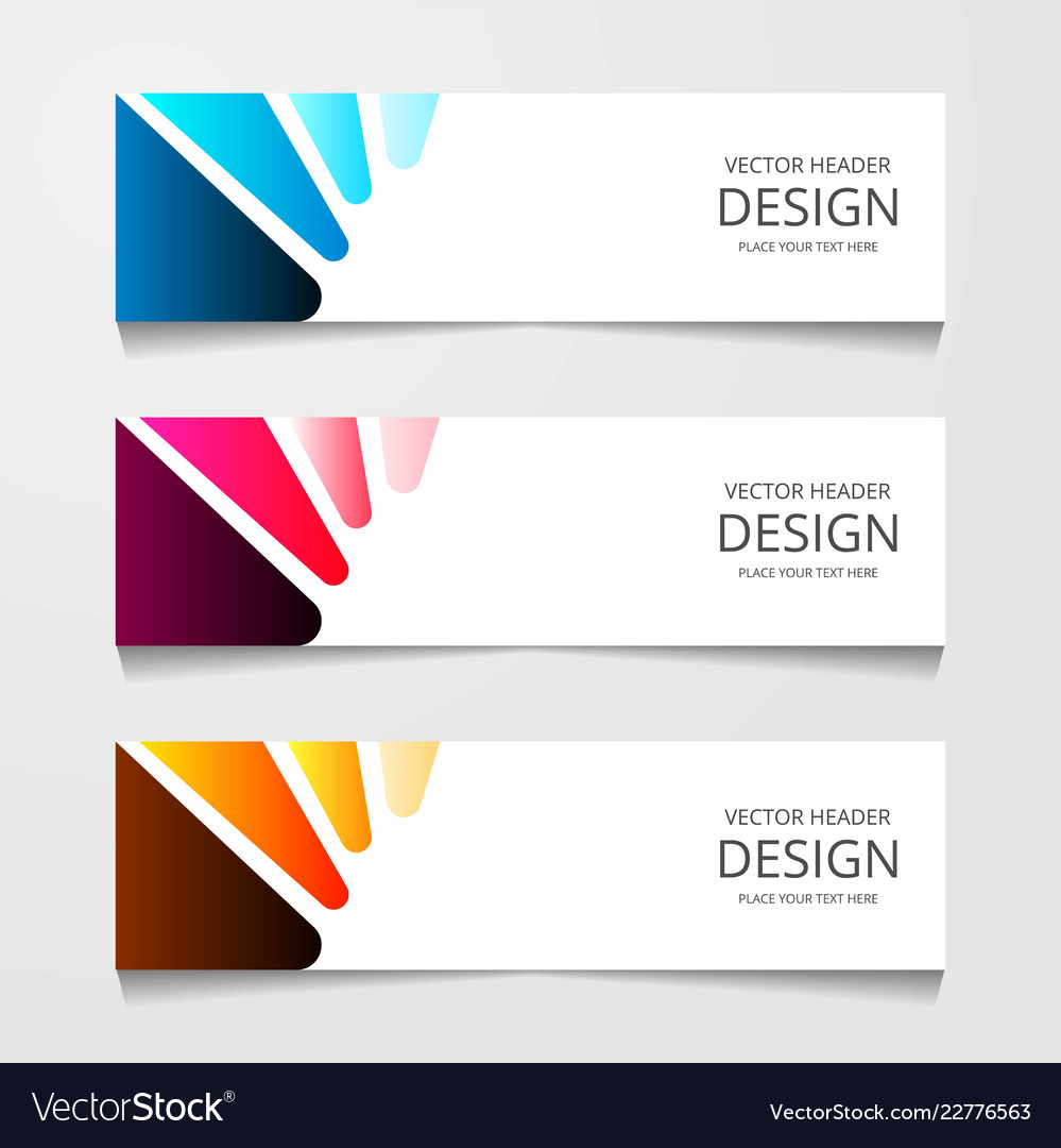 Abstract design banner web template layout header