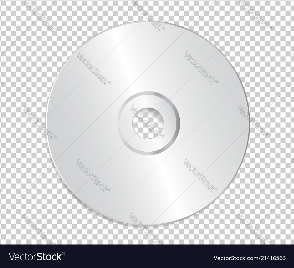blank cd template on transparent background with vector image