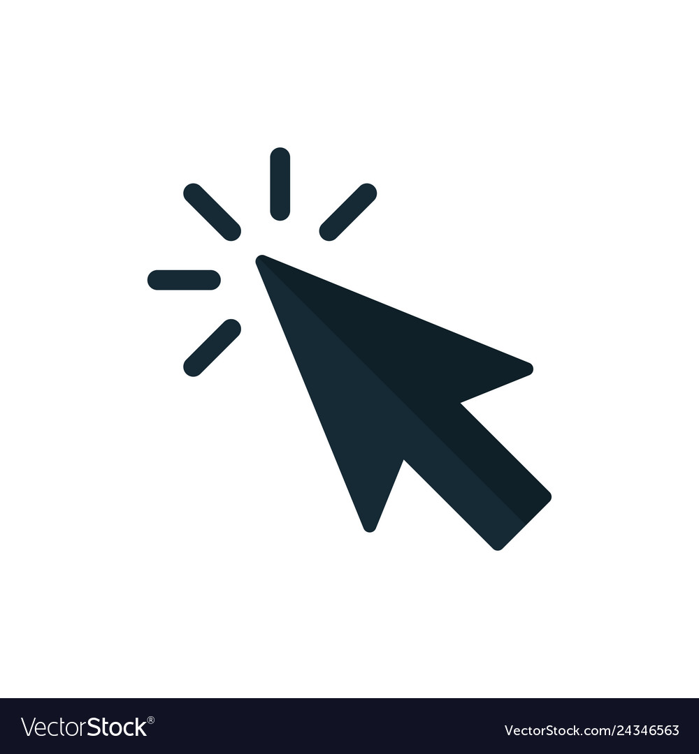 Click icon pointer arrow