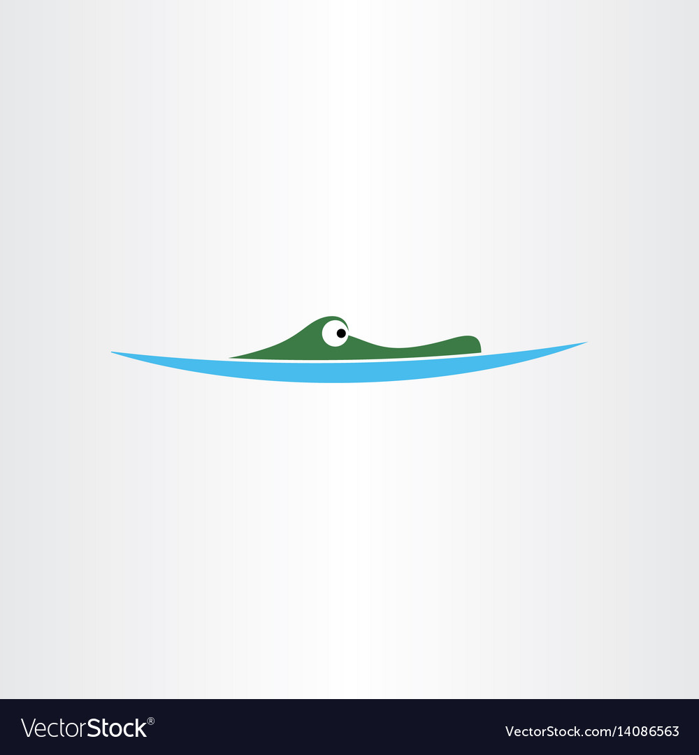 Crocodile in water icon logo