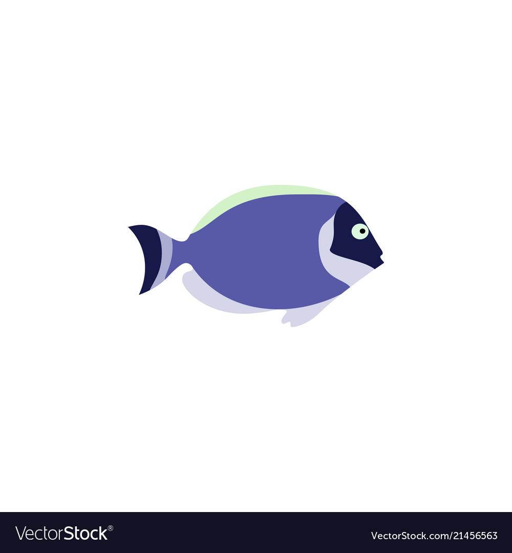 Cute fish icons set fish flat