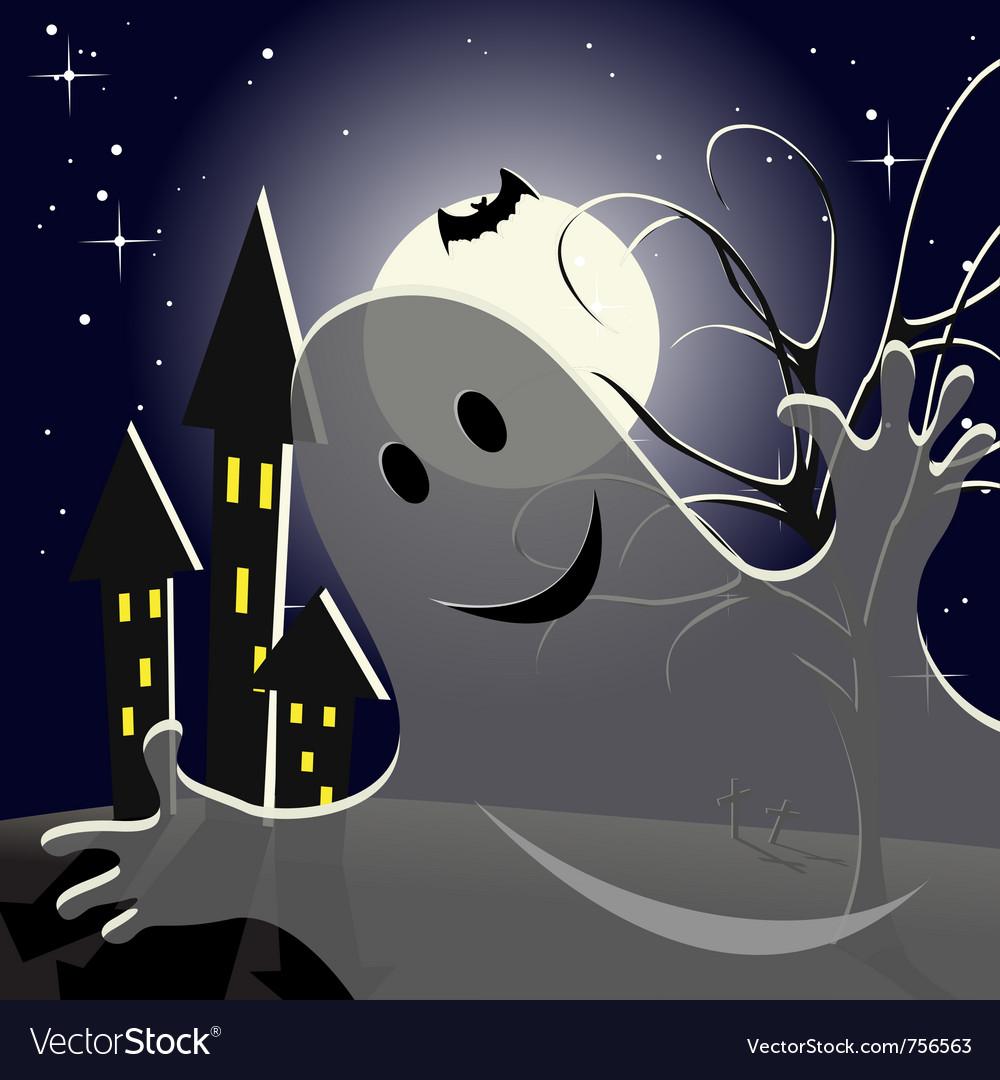 Helloween ghost vector image