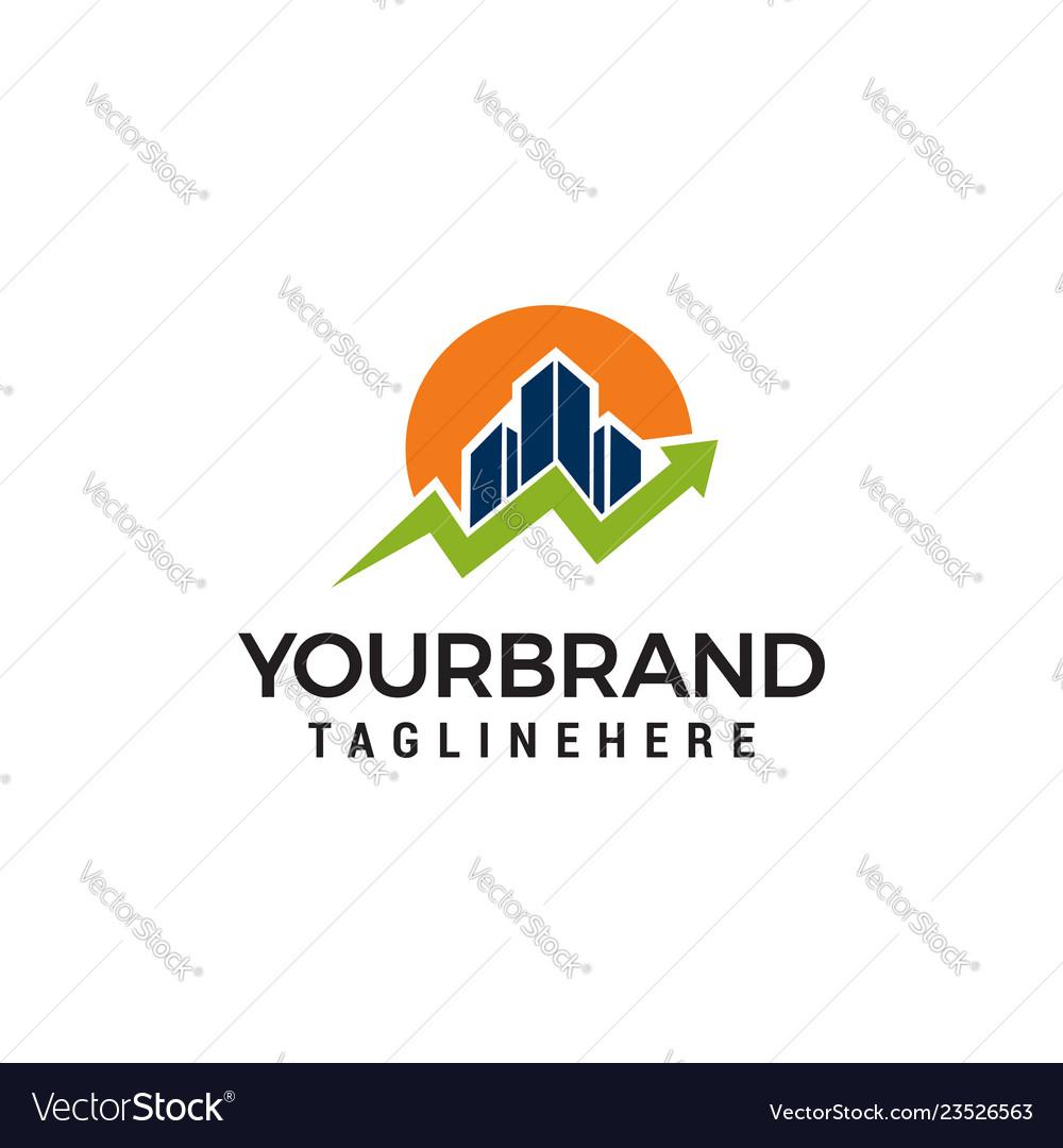 House statistic logo template design