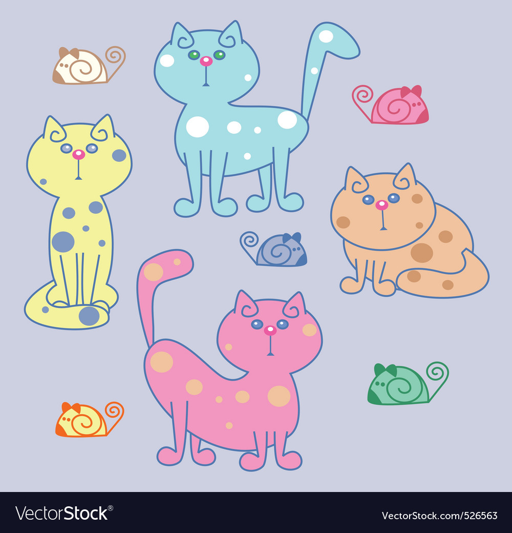 Kitty cat vector image