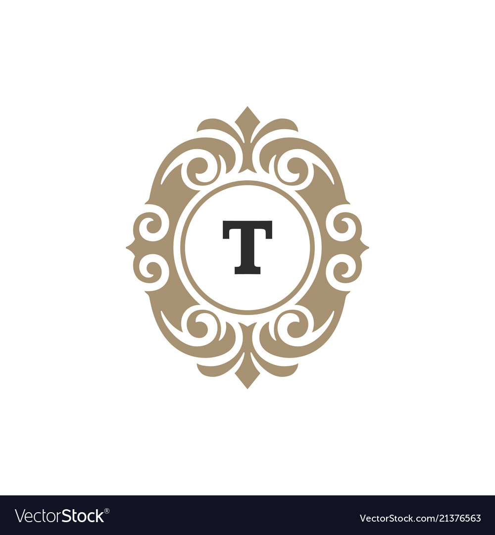 Luxury monogram logo template object for