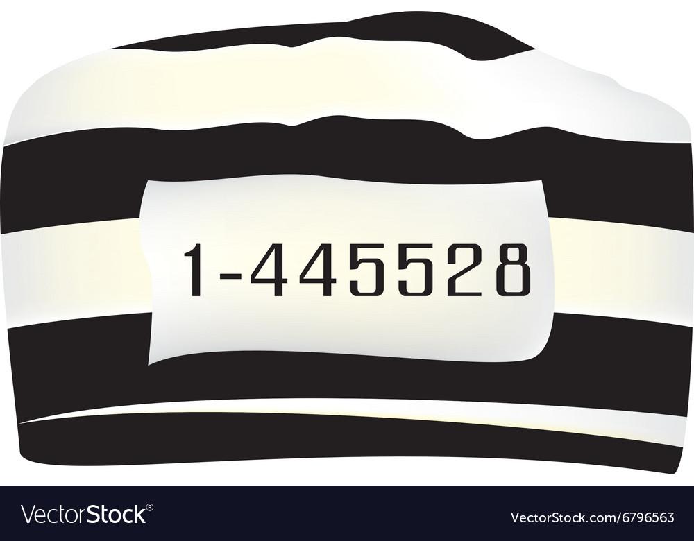 Prisoner cap with number vector image