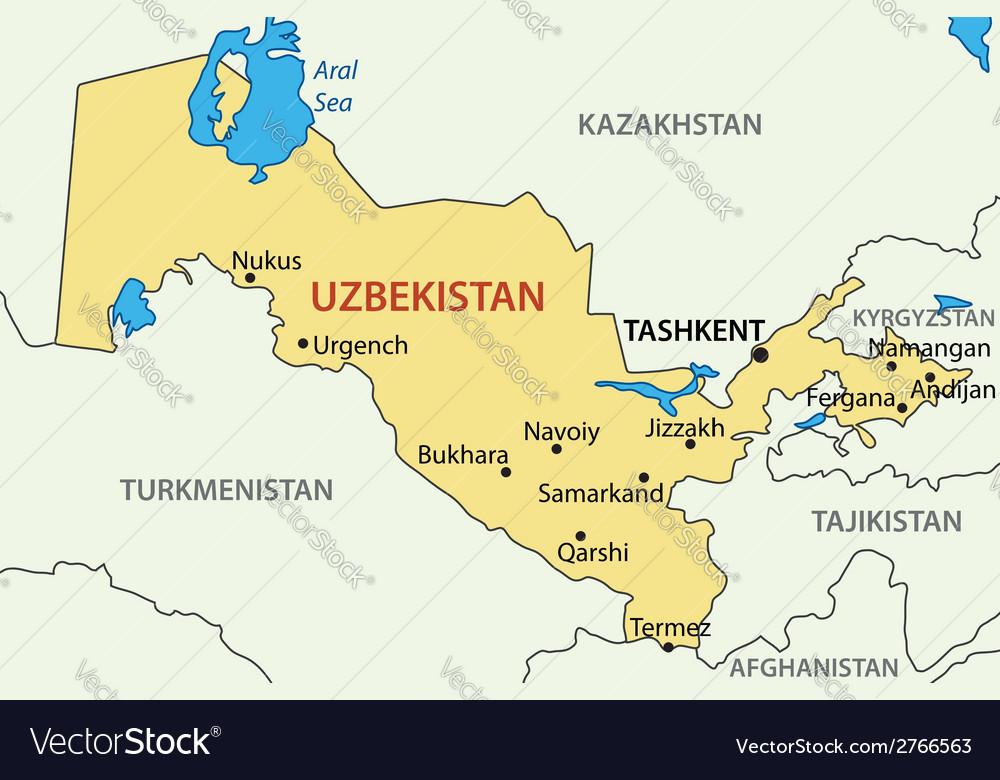 Republic of uzbekistan map royalty free vector image republic of uzbekistan map vector image gumiabroncs Images