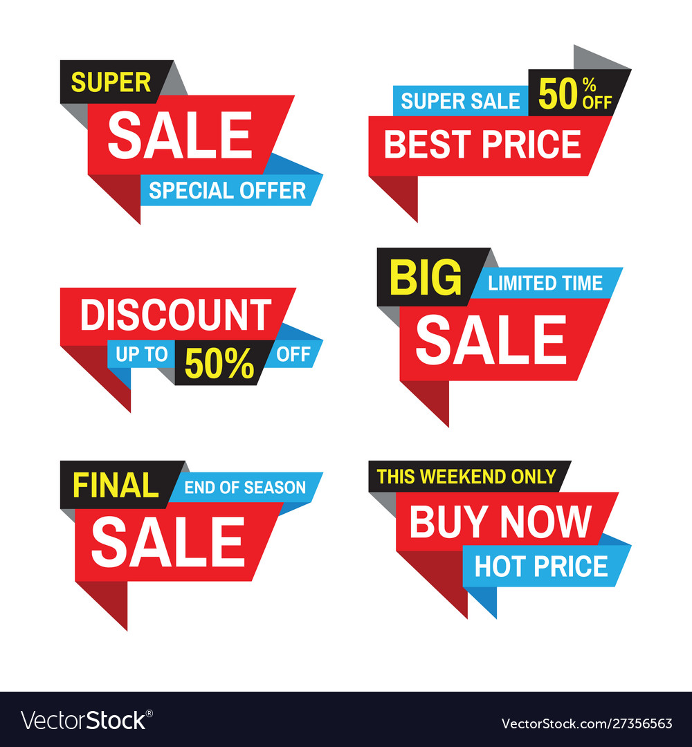 Sale tag badge design discount abstract st