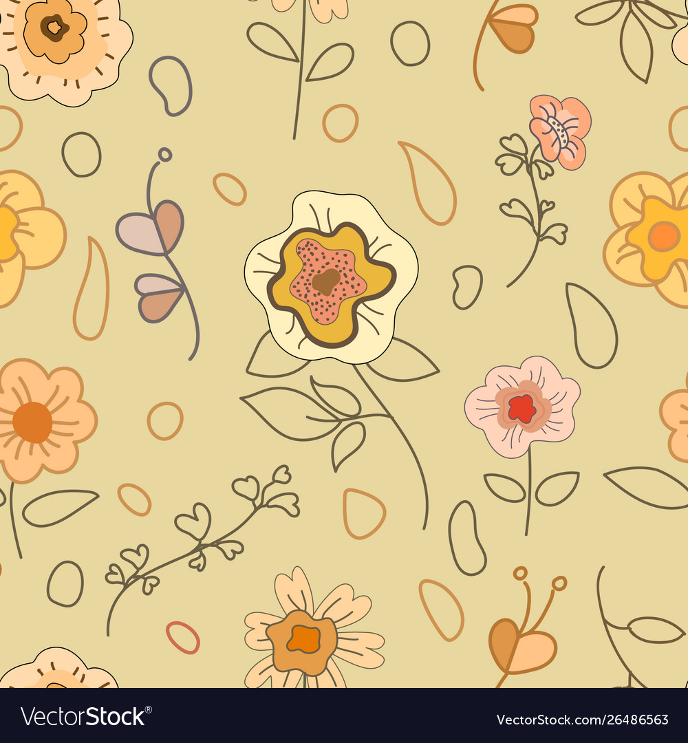 Seamless background with floral decoration