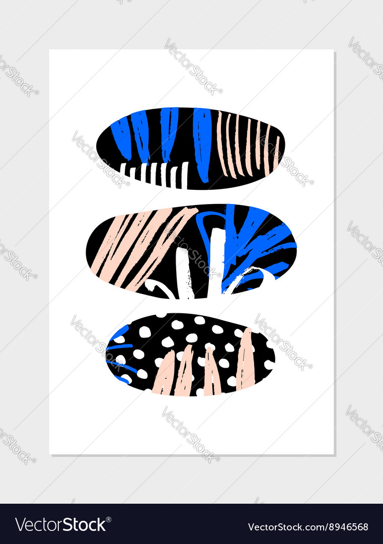 Abstract Collage Design vector image
