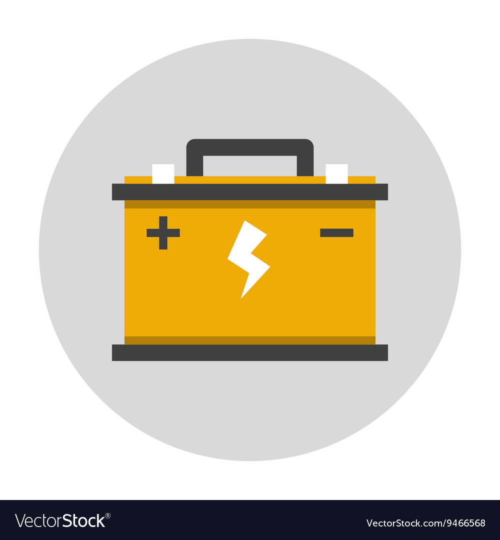 car battery flat icon royalty free vector image vectorstock