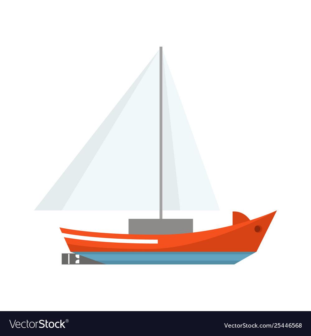 Cartoon ship sailboat on a white background