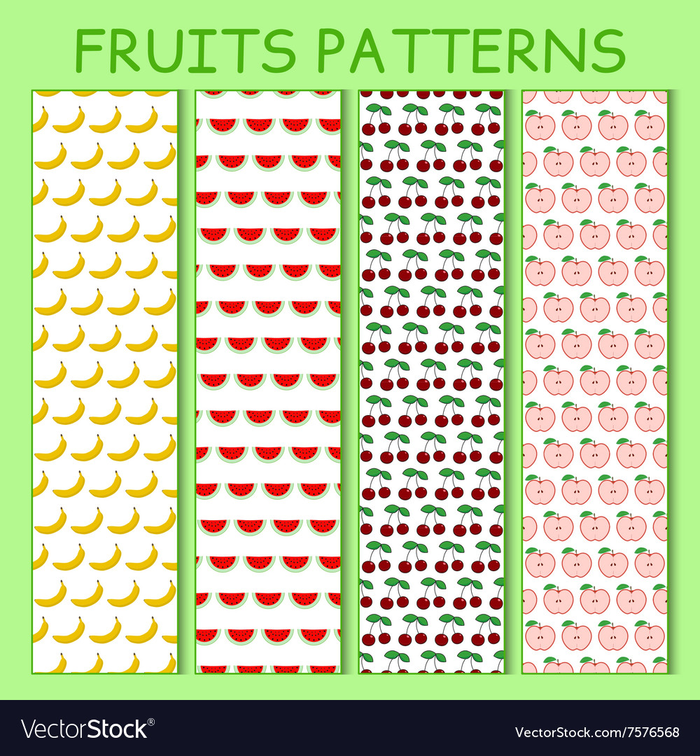 Colorful seamless pattern of bananas watermelons