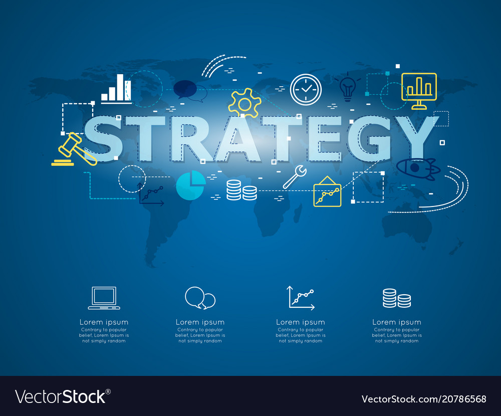 Creative infographic of business strategy with