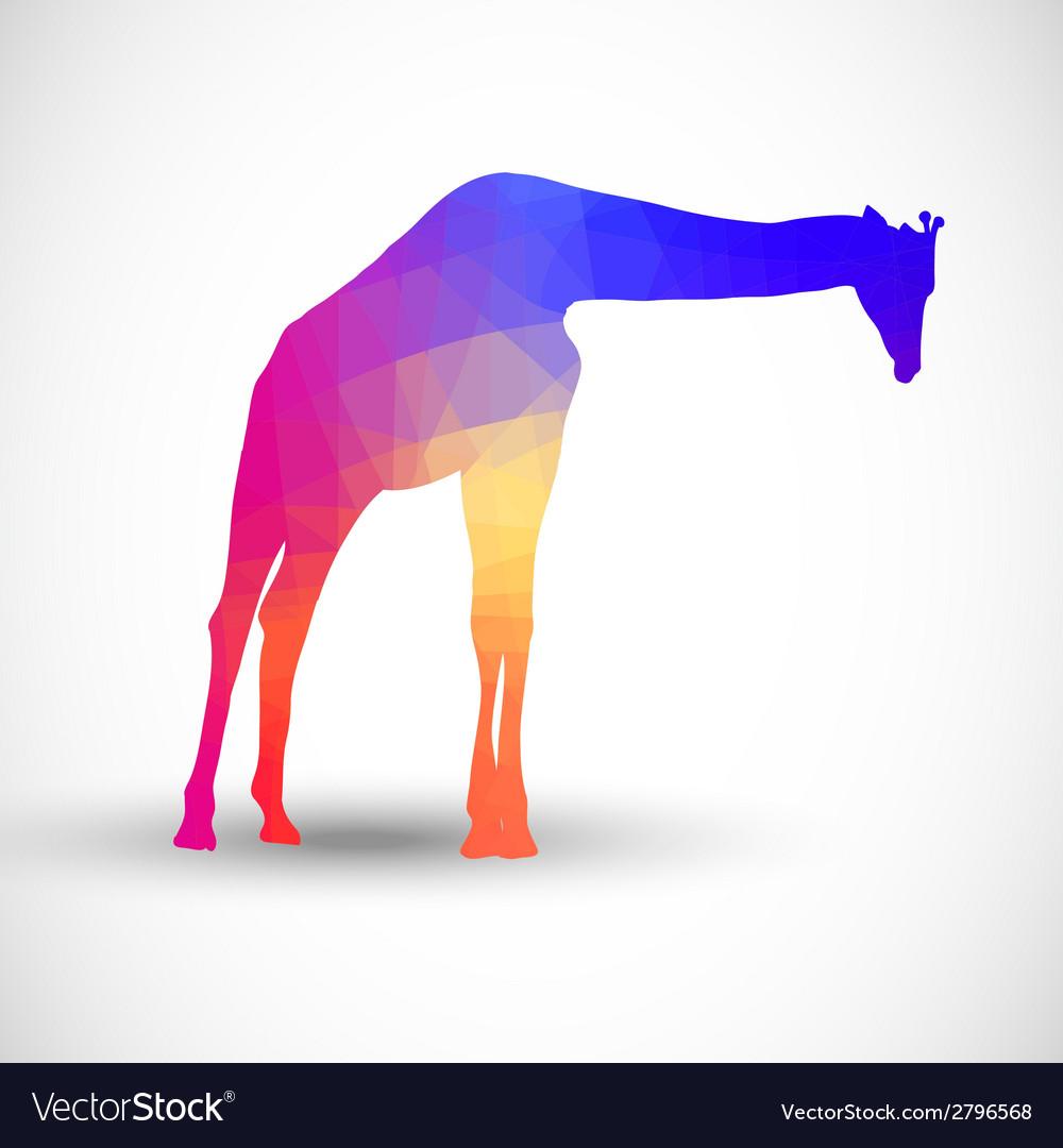 Geometric silhouettes animals Giraffe vector image