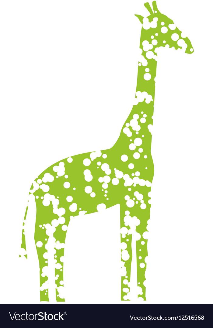 Green Art Giraffe vector image