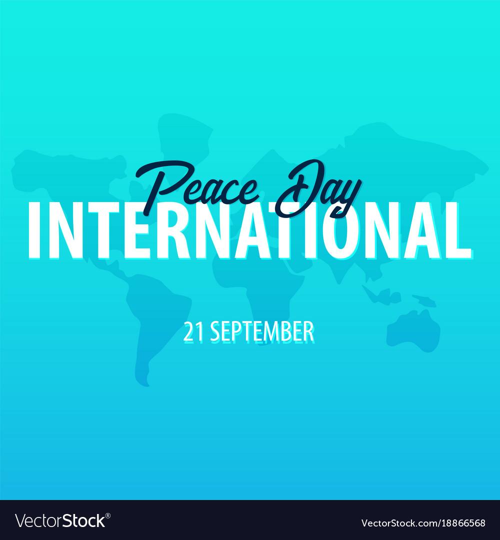 International peace day banner 21 september