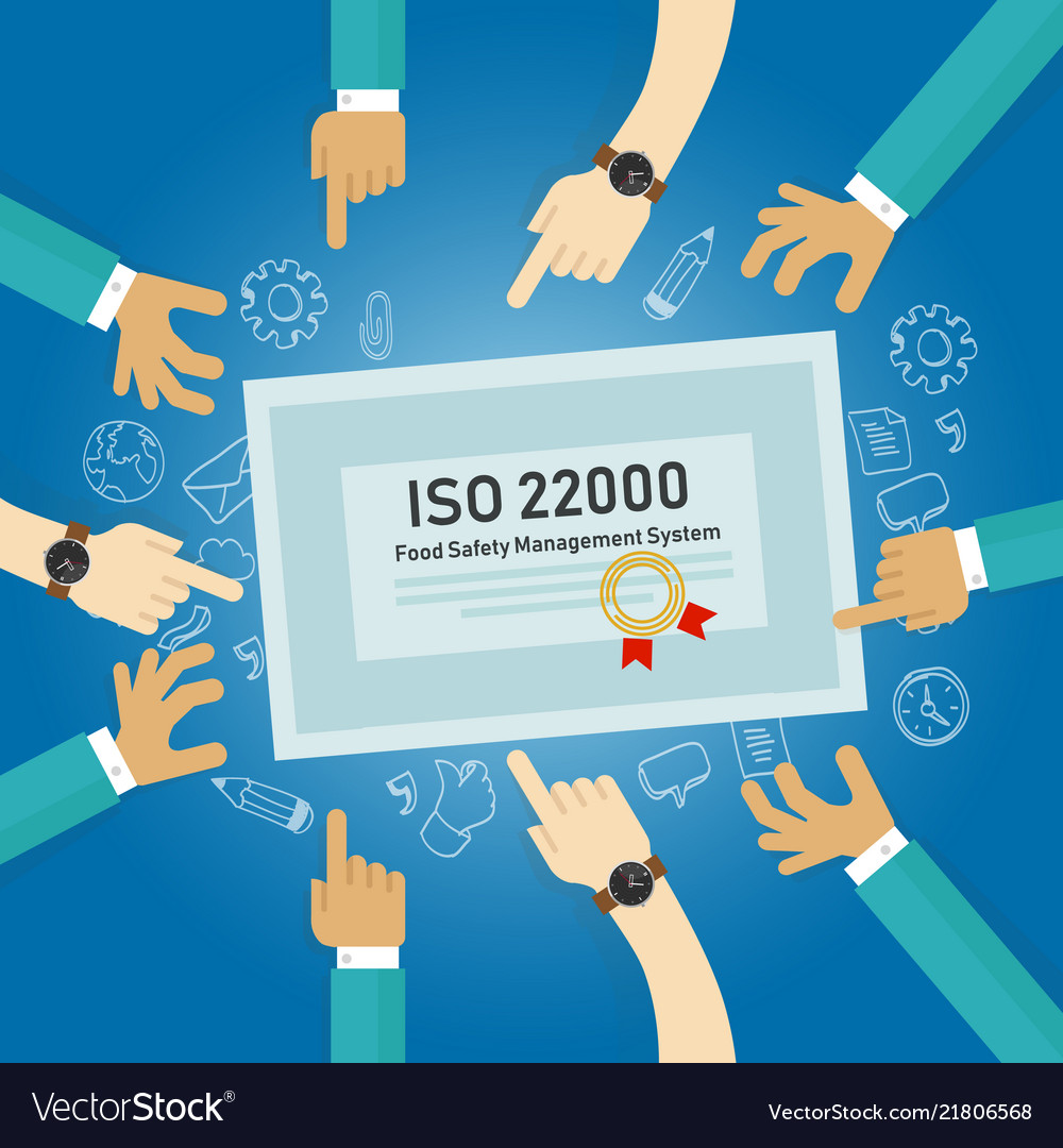 Iso 22000 - food safety management concept of