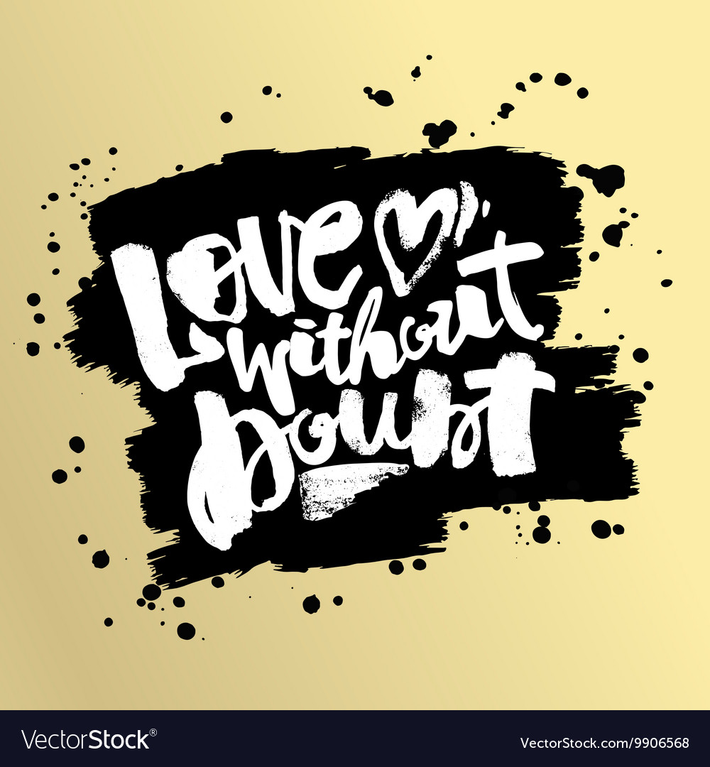 Love concept hand lettering motivation poster