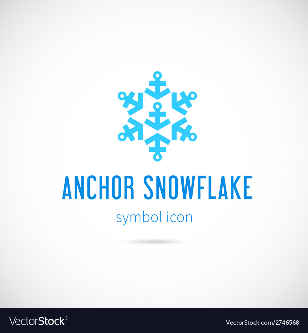 Snowflake From Anchors Concept Symbol Icon