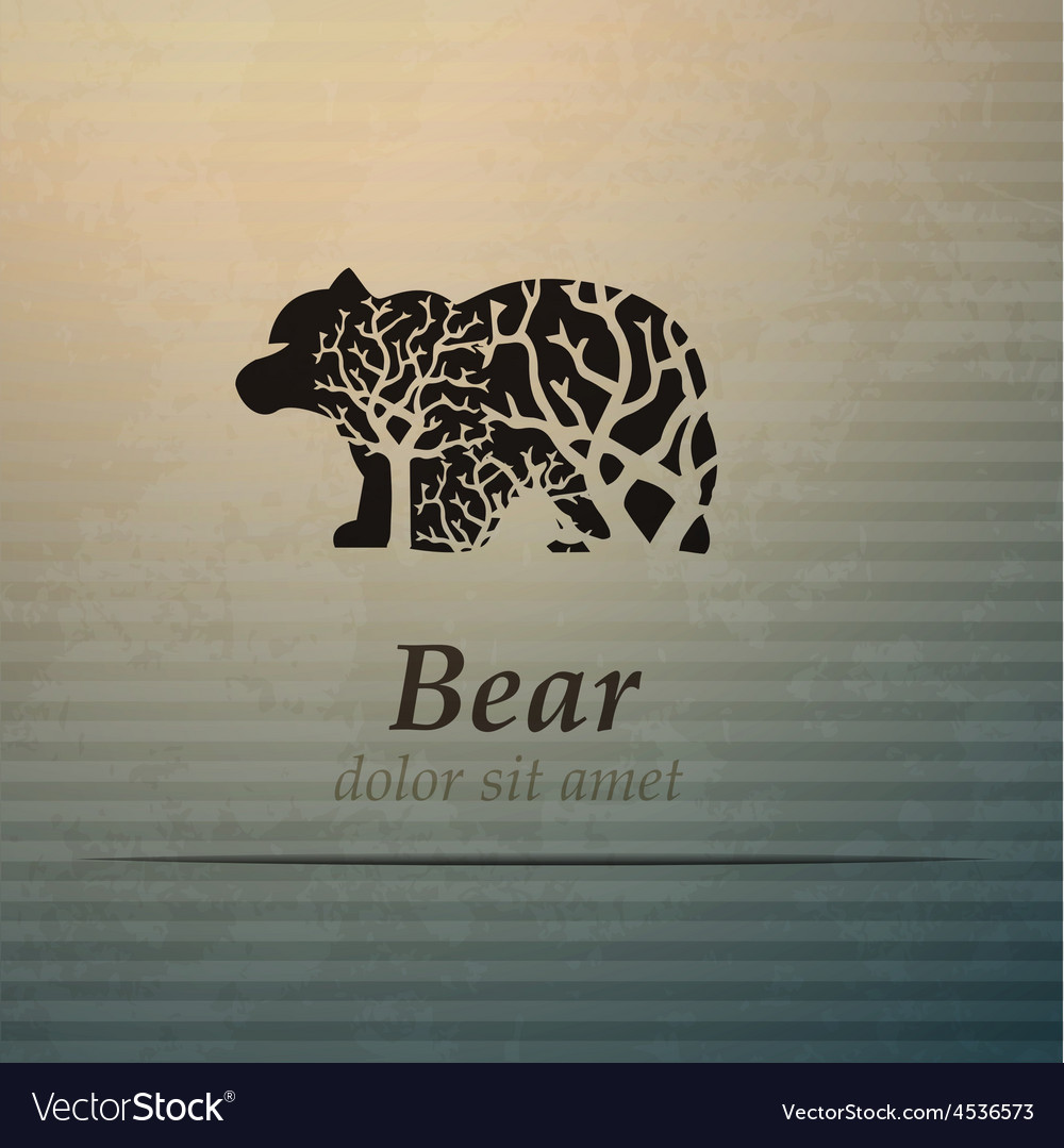 Bear logo design template
