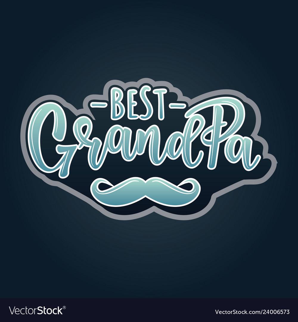 Best grandpa lettering poster