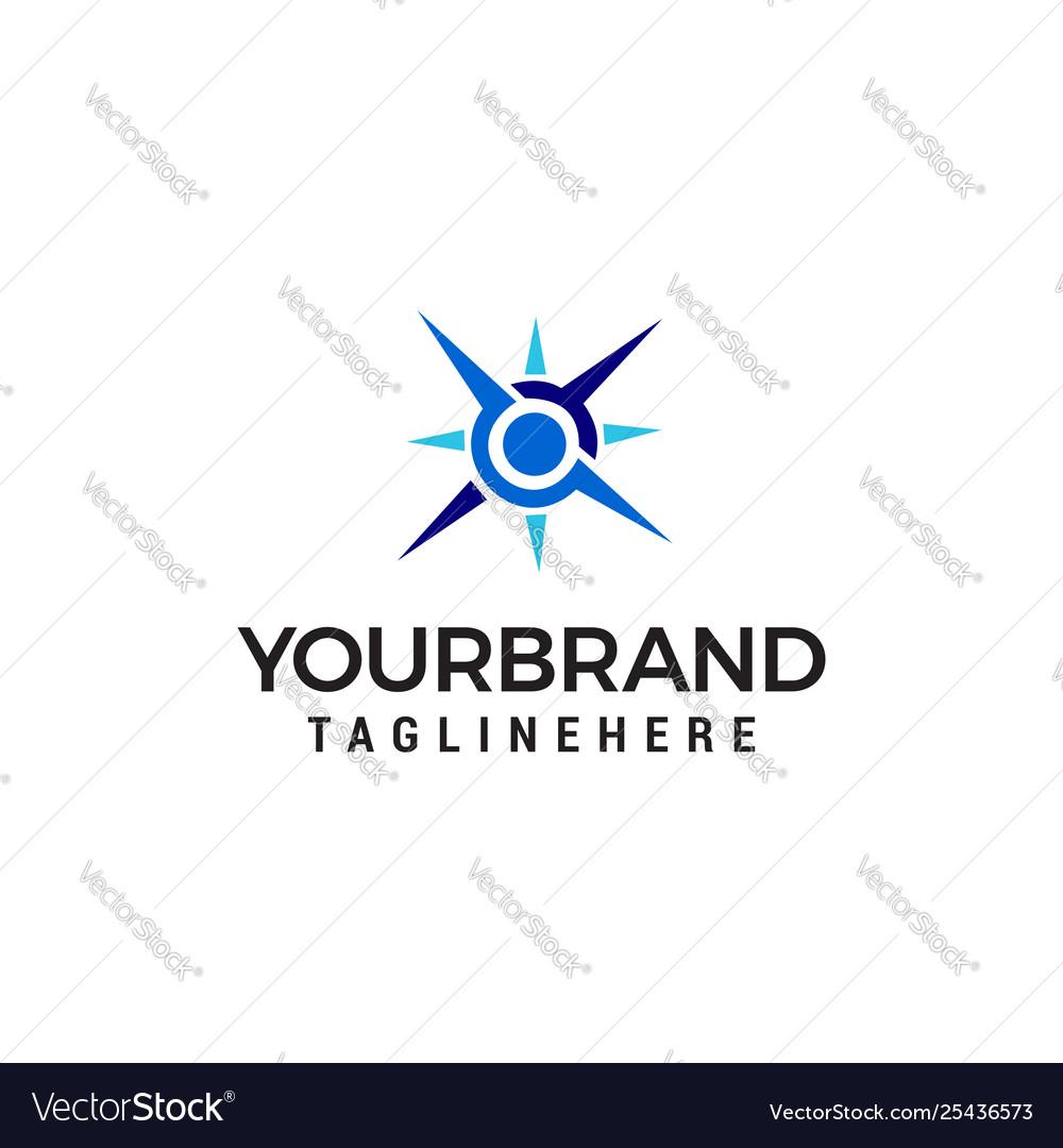 Compass logo design concept template