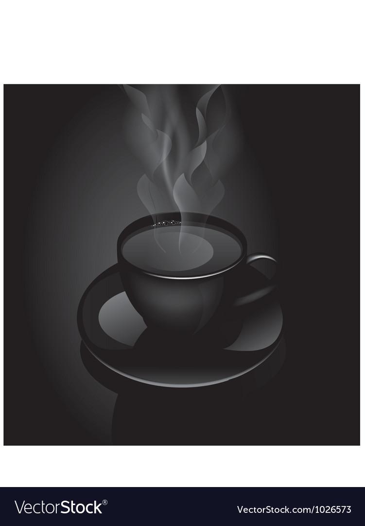 Hot drink cup vector image