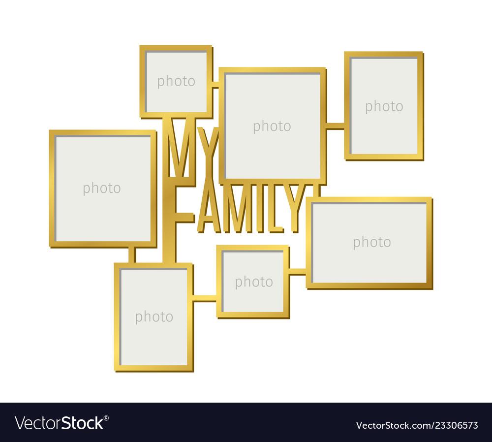 My family photo frame set