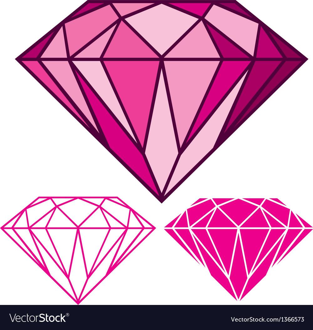 pink diamond royalty free vector image vectorstock
