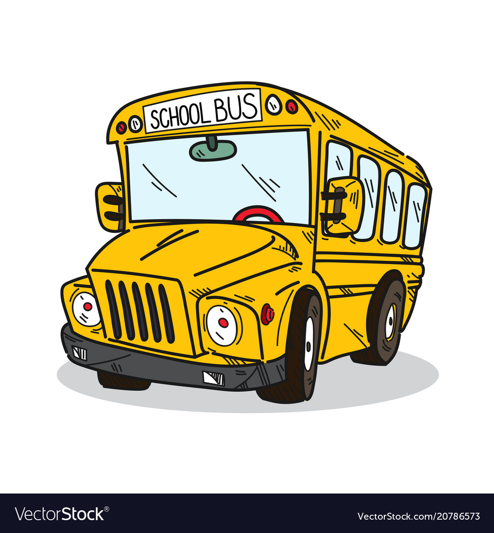 School bus on a white background