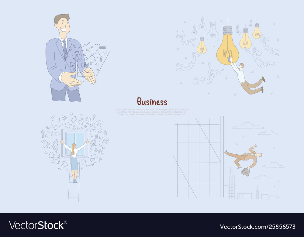 Successful businessman generating ideas male and