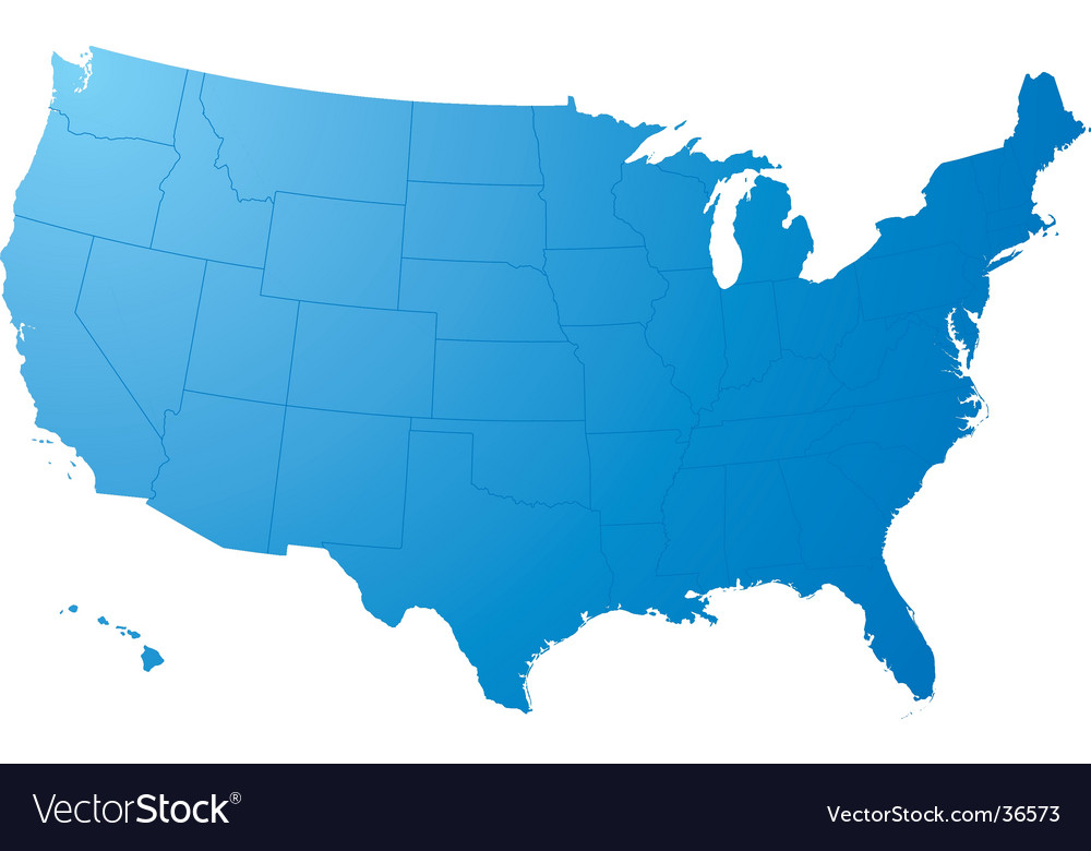 Free Us Map By Mail.Us Map Plain Royalty Free Vector Image Vectorstock