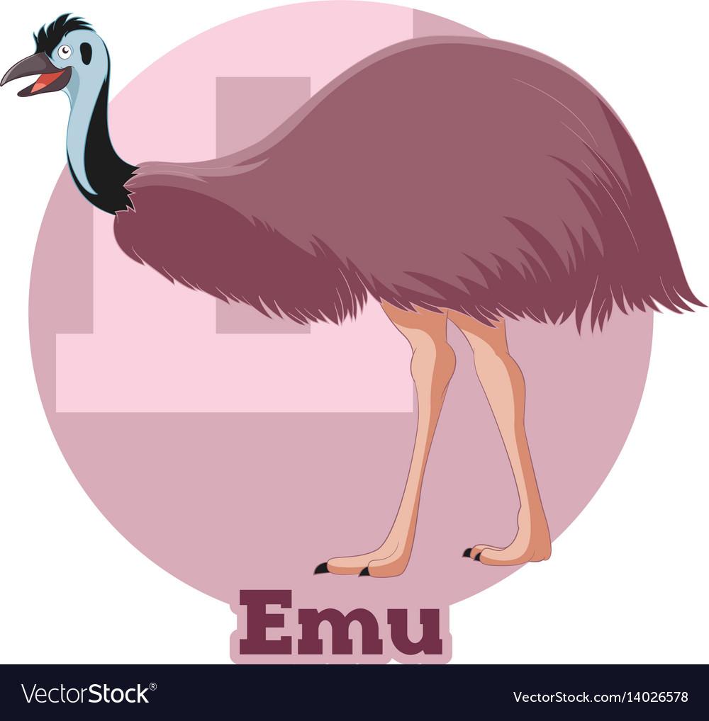 Abc cartoon emu vector image