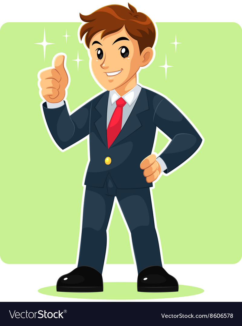 Businessman Mascot Character