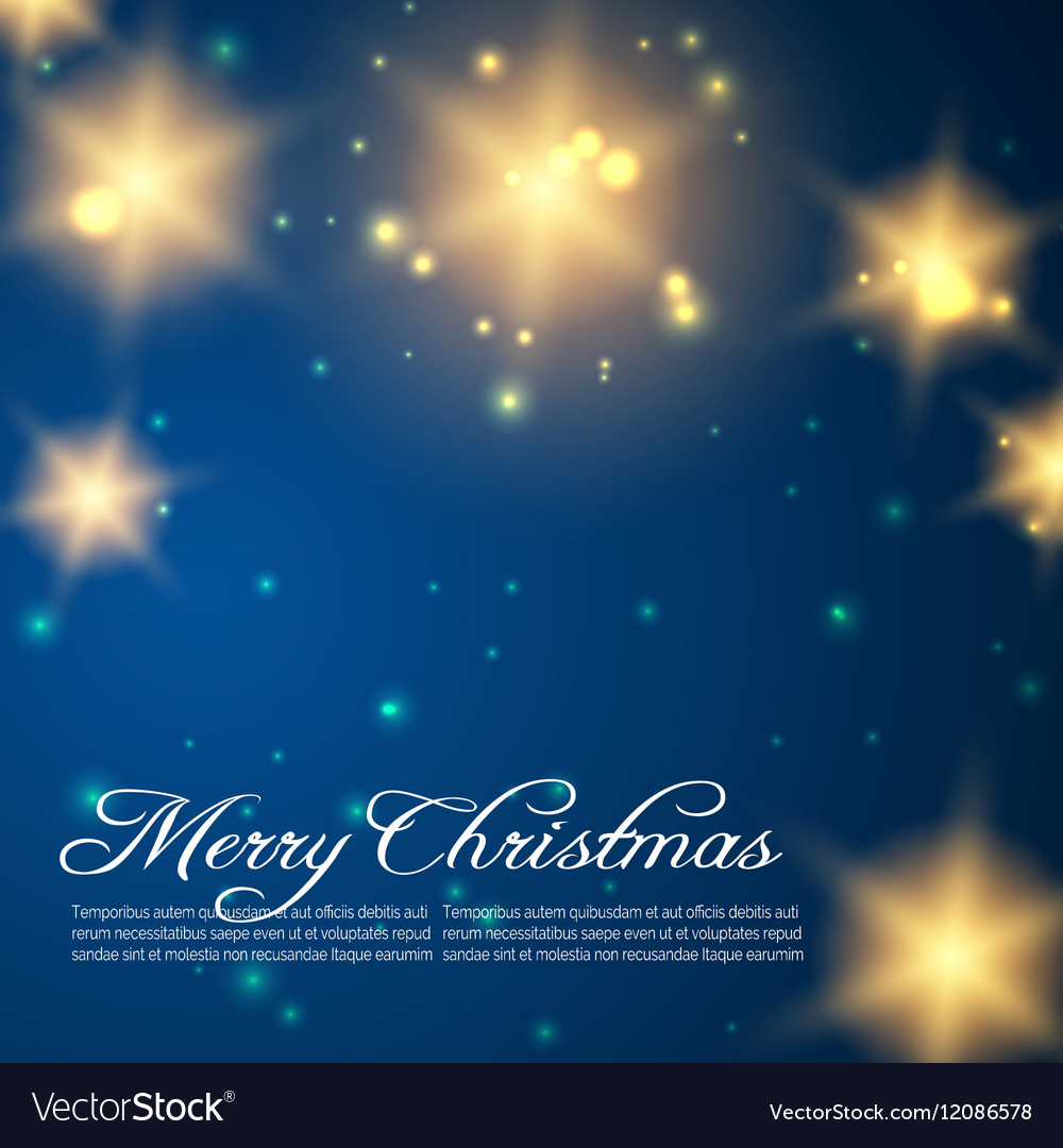 Christmas background with golden shining stars