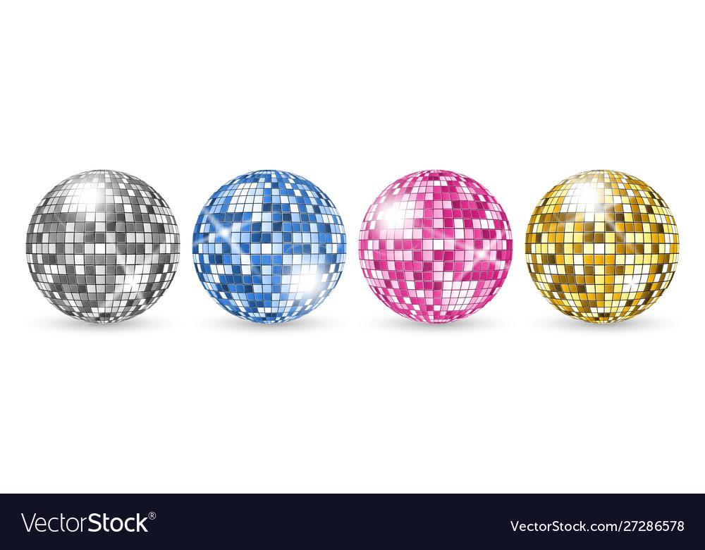 Disco ball party mirror balls set night club