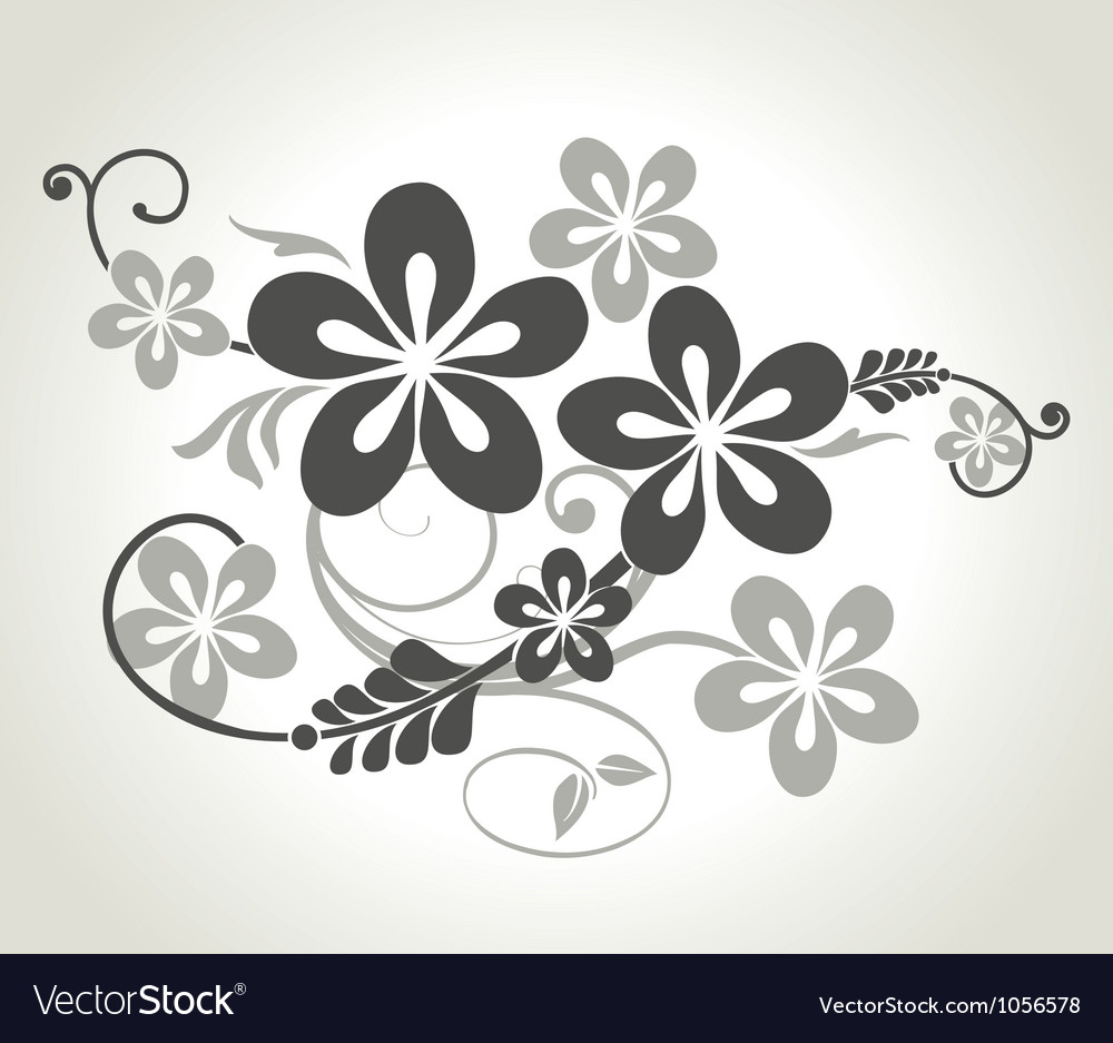 Floral curls vector image
