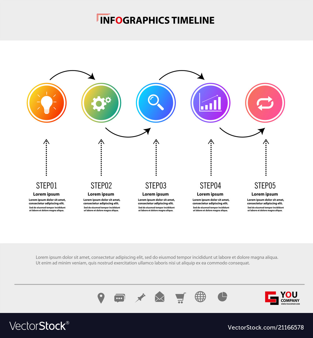 Infographic template concept business