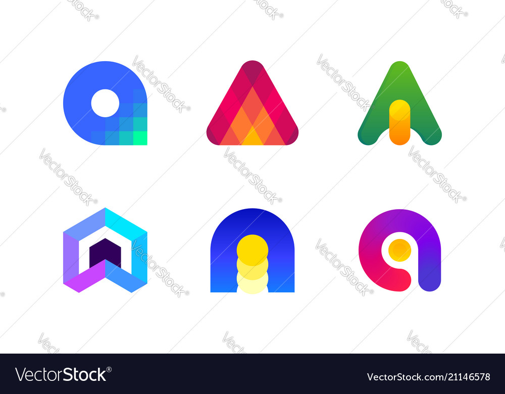 Logo or icon of letter a for accounting and audit