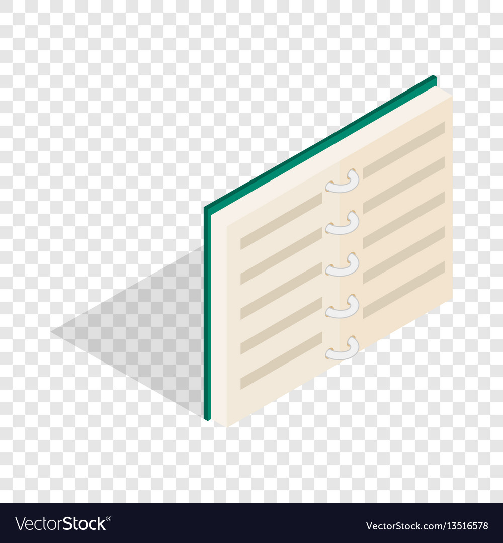 Open book in blue cover isometric icon vector image