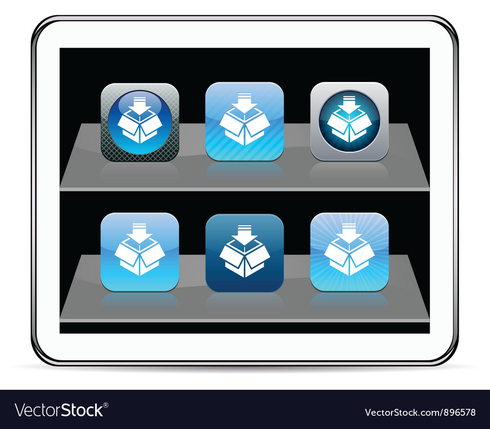 Package blue app icons