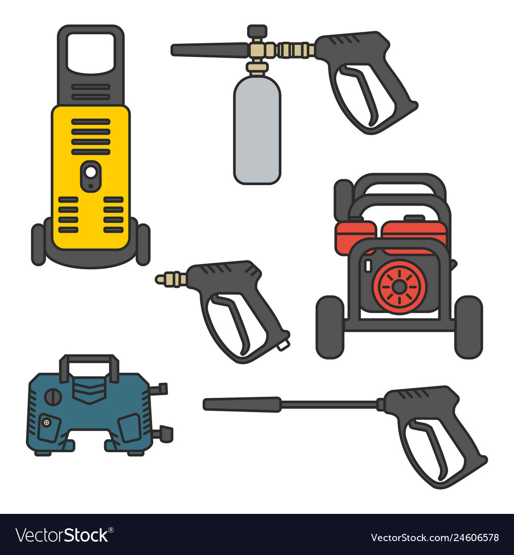 Set of pressure washer machine electric with